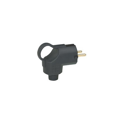 Legrand Rubber Plug with Handle Solid Rubber Schuko Plug IP44