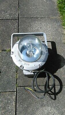 3 large vintage CHALMIT industrial lights NO. 238. approx 21 kgs each light