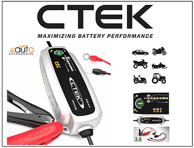 New CTEK Multi MXS 3.8A 12V Car Bike Battery SMART Trickle Charger +Conditioner
