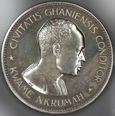 1958 Ghana 10 Shillings 1 Year Type Coin Proof Uncirculated Hairlines (1678)