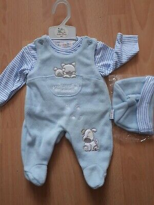 Premature Baby Boy Playsuit hat all in one Romper Little prince Outfit 3//5//8 lbs