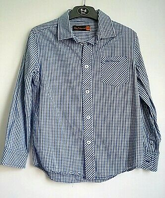 Boys smart Ben Sherman long-sleeved shirt age 5-6 blue gingham check
