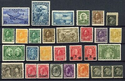 CANADA - 30 M/H Stamps - Collection Remainder - (gr.321)