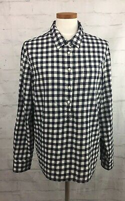 Womens Blouse Tommy Hilfiger Size Extra-Large 100% Cotton Black/White Plaid