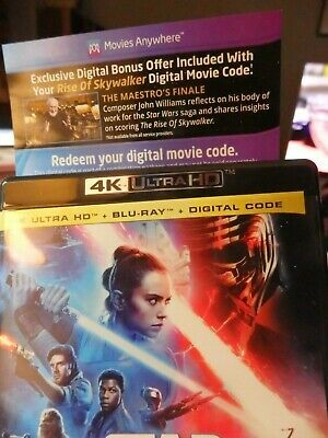Star Wars Rise of Skywalker digital code only from the 4k UHD Set