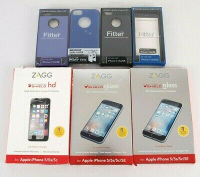 iPhone 5 Cell Phone Screen Protectors and Cases Accessory Lot of 7