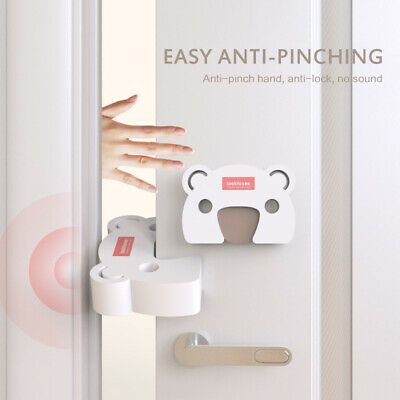 2pc Baby Safety Stop Door Finger Pinch Guard Lock Jammer Stopper Kids Protector