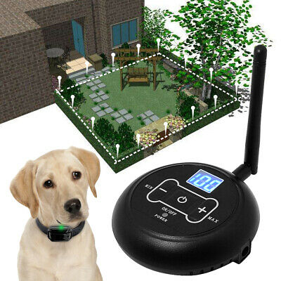 Wireless Electric Dog Fence Pet Containment System Shock Collar Rechargable 100M