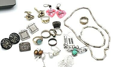 Lot of Wearable Sterling Silver Jewelry 133 grams ***ATTENTION RESELLERS***