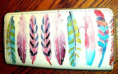 COLORFUL FEATHERS, BIJORCA  WALLET Credit Card Holder -  NWOT