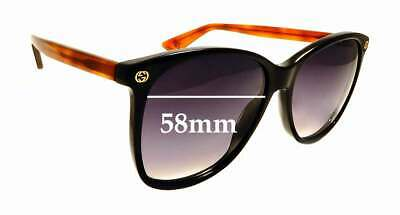 SFx Replacement Sunglass Lenses fits Gucci GG 0024/S - 58mm Wide