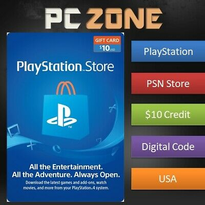 $10 PlayStation Store USD Card - PS PSN US Store - Instant Code PS4/PS3/PSP