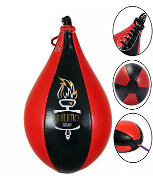 Leather Boxing Speed Ball & Swivel Punch Bag Training MMA Punching