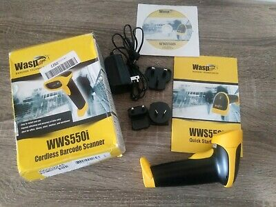 Wasp WWS550I Freedom Wireless Barcode Scanner with USB Base, 5 mil Resolution, 2