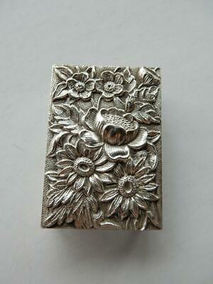 Vintage S. Kirk & Son Sterling Silver 90F Match Box Holder, Repousse   #Bb286