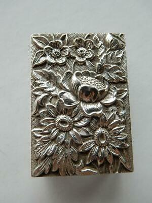 Vintage S. Kirk & Son Sterling Silver Match Box Holder, Repousse   #Bb287