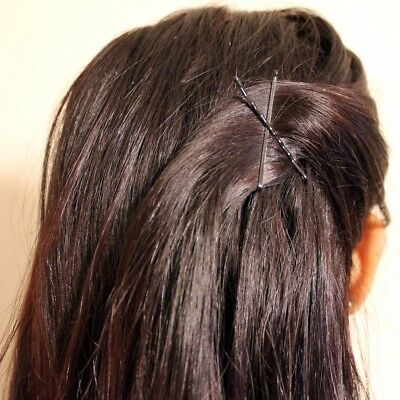 200 Hair Clips Grips Brown Black Waved Kirby Granny Bobby Pins Slides Styling