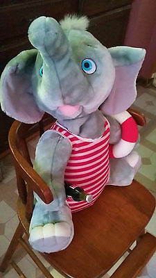 "Vintage X LARGE 20"" Coca Cola Plush Elephant w/Coke bottle 1994"