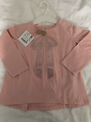 Zara girls Baby Girl 2-3  Years Fits 3.5  Pink A Line Top Tunic Brand New