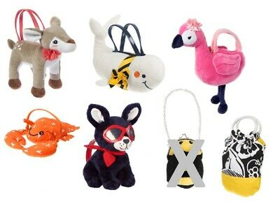 NEW Gymboree Cat Dog Deer Crab Bee Whale Flamingo Yellow & Black Purses Handbags