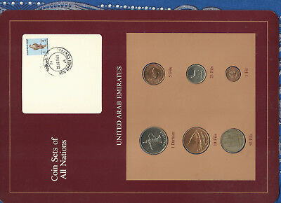 Coin Sets of All Nations UAE United Arab Emirates UNC 1973-1986 Falcon