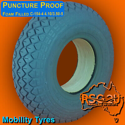 4.10/3.50-5 Tire Wheelchair Mobility Scooter  Grey Size Puncture Proof
