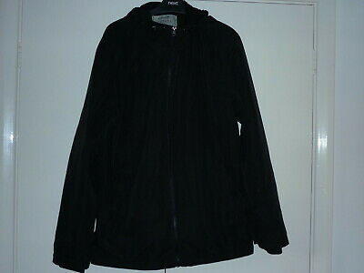 Mans Small Black Jacket Hooded Fleece Lined George Casual Outfitters