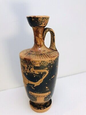Ancient Greek redware vase figure of a woman angel 6th-4th BC
