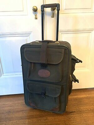 Orvis Leather, Canvas Rolling Suitcase