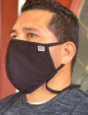 122 Big and Tall, Face mask, Large, Double 100% cotton mouth nose cover soft