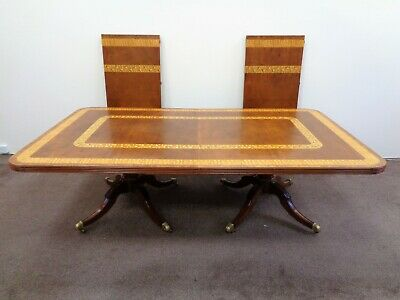 LARGE 12ft EXTENDING MAHOGANY DINING TABLE ANTIQUE STYLE RESTALL BROWN CLENNELL