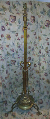 Antique Victorian Solid Brass Standard Lamp / Floor Lamp