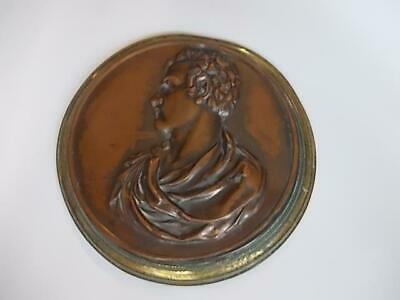 203 / A 19Th Century Cast Metal Plaque Having A Copperised Surface Finish