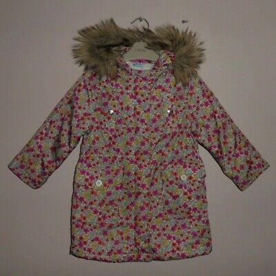Gap Girls Pretty Floral Hooded Parka Coat Age 4 Years