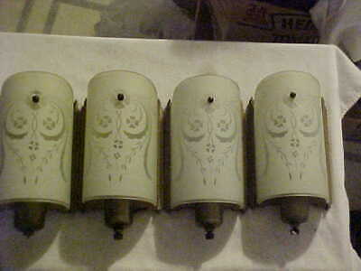 NICE Matching Set of 4 GLOBE Lighting Art Deco Electric Wall Sconces Nice Finish