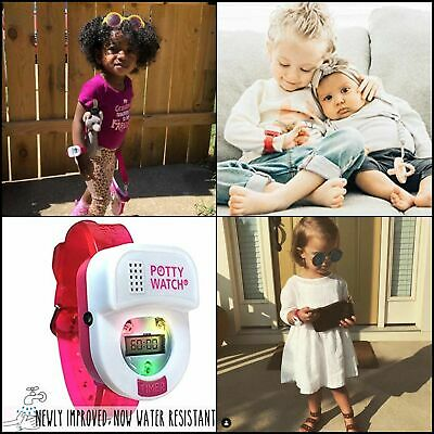 Potty Time Watch Timer Water Resistant Musical Toddler Toilet Training Aid PINK