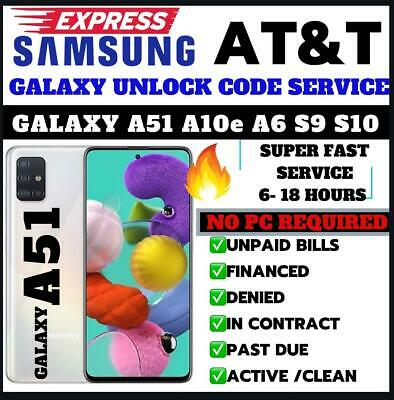 At&T Premium Unlock Code Service For At&T Samsung Galaxy Note 9 S10 S10+