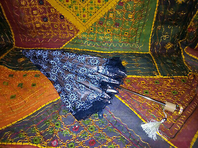 Gothic Victorian Look Black Lace Umbrella with Folding Handle