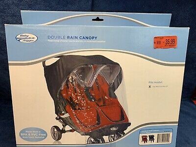 Baby Jogger Rain Canopy for City Mini & GT Double Stroller - New! (BL)