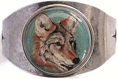 Coyote Original Art Cuff Bracelet