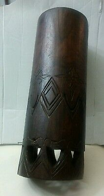 Hand Carved Hawaiian Pahu Drum, Circa 1950,