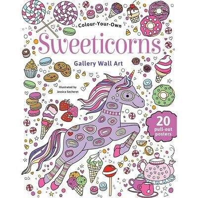Colour Your Own Gallery Wall Art - Sweeticorns