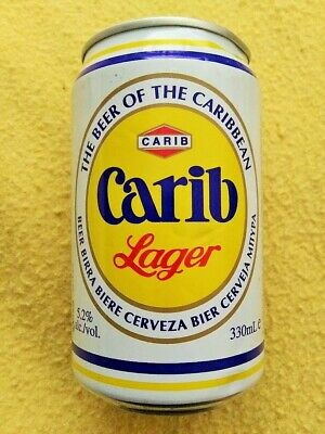330ML Carib Lager Bottom Opened Aluminum Beer Can From Trinidad and Tobago