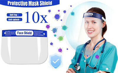 Protective Face Shield Anti-fog -10 pack