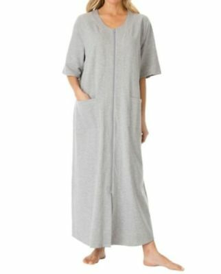 Dreams & Co. Plus Size Dark Raspberry Short Sleeves Long Robe Size 2X(26/28)
