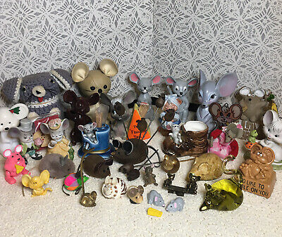 Vintage Mouse Figurine Lot Collectible Mice Assortment