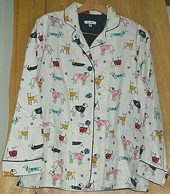 Womens PJ SALVAGE FLANNEL Pajama Top CHOICE Prints Size Medium Top Only
