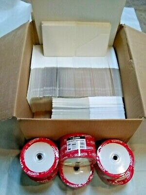 300 Blank Cd RiData 52X CDR-W with 250 White Blank Cardboard Cases Recordable