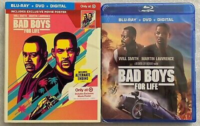 New Bad Boys For Life Blu Ray Dvd + Slipcover Sleeve Target Exclusive + Poster