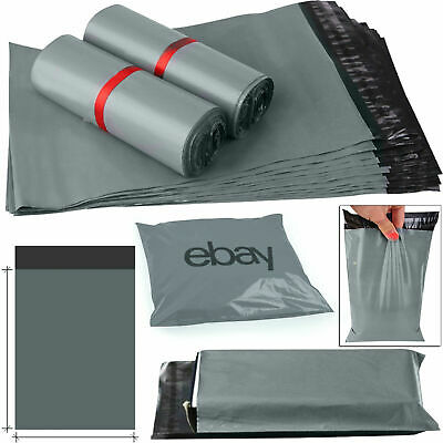 """28""""x34"""" STRONG GREY MAILING POST MAIL POSTAGE BAGS POLY POSTAL PLASTIC SELF SEAL"""